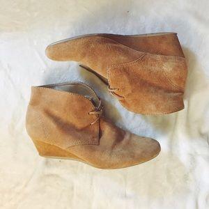 Tan suede desert shoes